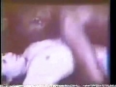Vintage cuckolding fun with a black guy climbing on top of this sexy white wife
