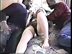 Married mature blonde invites two black men to her hotel room and they enjoy her body