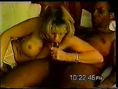 Husband makes an interracial cuckold sex tape with his hot blonde wife and her lover