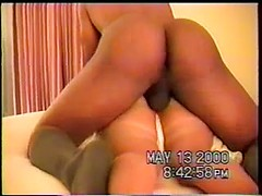 Lusty amateur wife takes big black cock in her ass for free